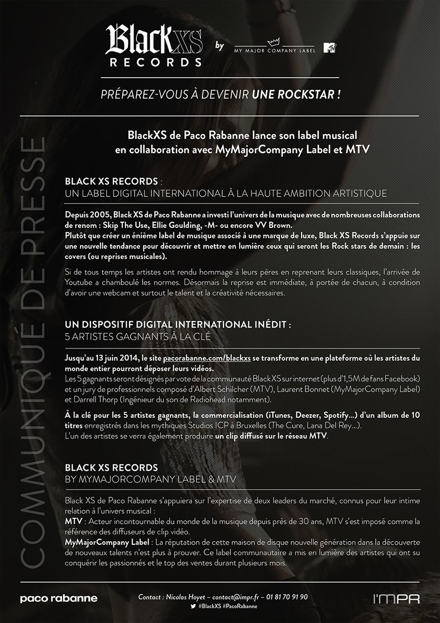 Black XS Be a rockstar